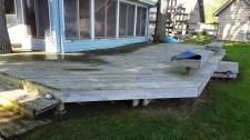 Wood Deck Before