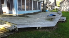 Wood Deck Before